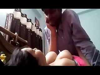 Newly wed couple enjoying in bedroom