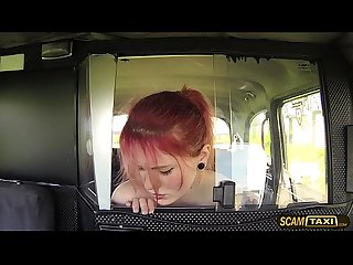 Kinky redhead teen anne takes big fat cock in the cab