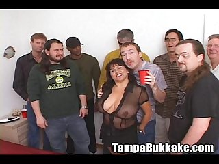 Susie s gang bang bukkake party