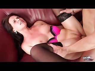 Shootourself Perfect tits owner Shylina rock the cock on red sofa