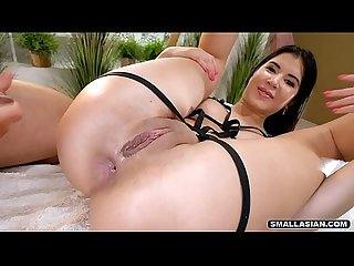 This asian loves anal sex