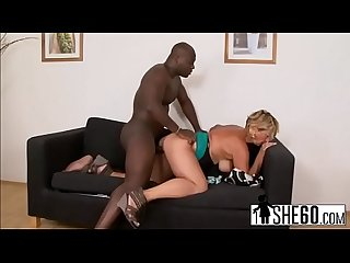 Blonde granny with big boobs Sarah takes black bonerefore-hi-2