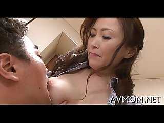 Horny oriental mother i D like to fuck enjoys cock