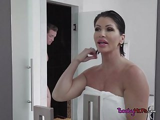 Seductive cougar shay fox seduces sons friend
