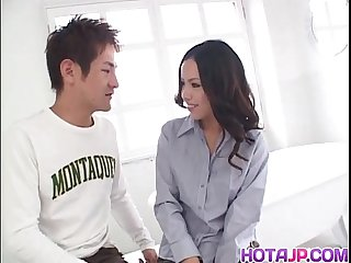 Hot milf shinobu goes nasty on cock