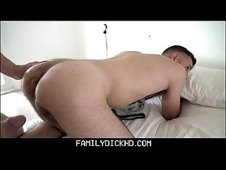 Twink Step Son Helps His Bear Step Dad Out With His Viagra Dick
