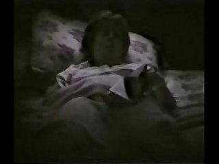 My horny mum fingering on bed reading A book period hidden cam