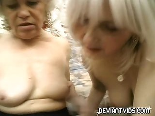 Grandmas devour each other s pussy