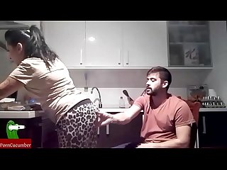 The gypsy woman, a chair in the kitchen and cum mouth. SAN063