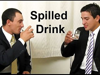 Suit and tie colon cocksucking when A drink is spilled comma The pants come off period