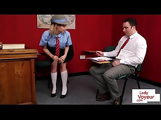 British schoolgirl voyeur instructs classmate