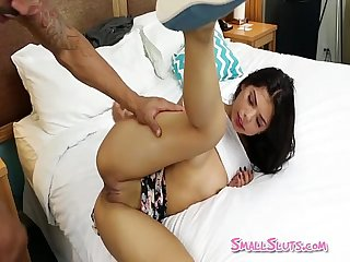 Cute Nubile School-Girl Getting Pounded