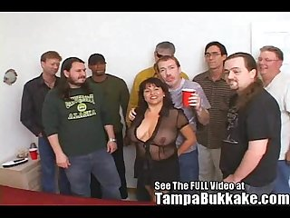 Susie s gang bang bukkake party for tampa bukkake