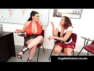 Curvy cuban angelina castro bangs gia love with a strap on excl