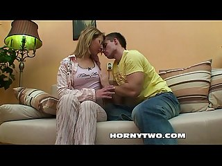 Big titted blond milf giving head slowly tenderly for a reverse cowboy fuck