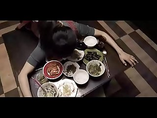 Korean household fucked while eating dinner