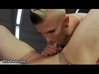 Sexy babe guy and shemale fucking