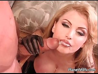 Ultra hot blonde milf with huge tits