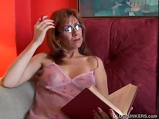 Sexy older babe mikela loves facial cumshots