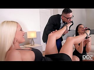 Hipster enjoys foot fetish threesome with blanche bradburry vicky love