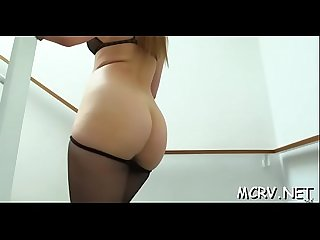Sexy honey shakes curves during sex