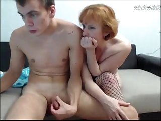 Mature redhead fucks her step-son on webcam - AdultWebShows.com