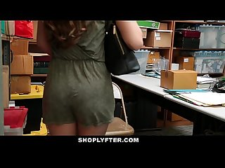 Shoplyfter caught red handed and bribed to fuck