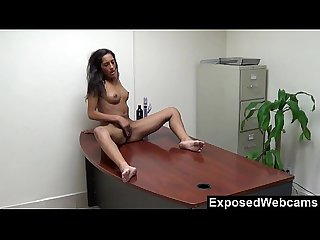 Chloe s webcam show at the office
