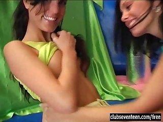 Cutie lesbian teens toy slits