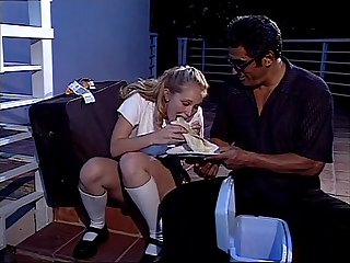 Runaway school girl kitty marie having sex