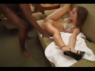Amber blank destroyed on couch