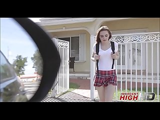 Cute virgin high school girl kelsey kage ditching school with her crush gets fucked