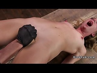 Pinched nipples blonde got pussy tortured