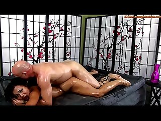 Adrian Maya Gives Erotic Oil Body-on-Body Massage and MORE!