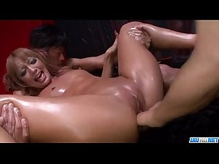 Kyoko chokes with two cocks in dirty threesome more at javhd net