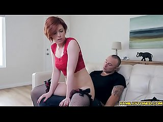 Faye Lynne bouncing off her tight pussy on top