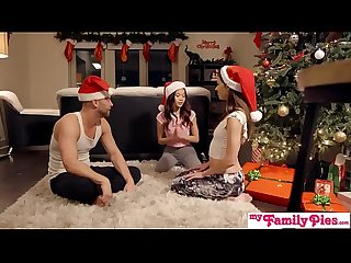 Stepbro s christmas threesome and sister creampie my family pies s5 e6