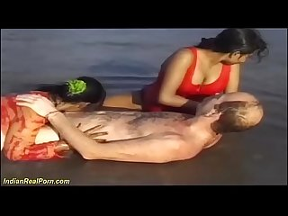 interracial indian sex fun at the beach