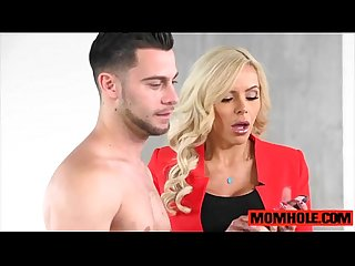 Ooops excl Mom nina elle gets caught Fucking bf cock