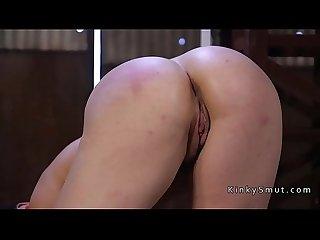 Master anal fucked slave in bondage