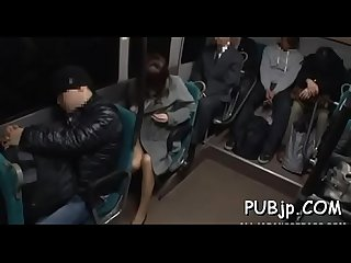 Public sex scene with oriental hotty