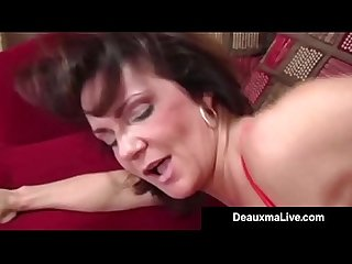 Busty cougar Deauxma fucks the tax man in her house oho