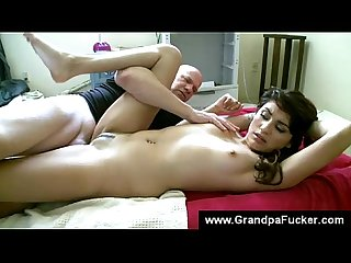 Student makes senior lick her feet