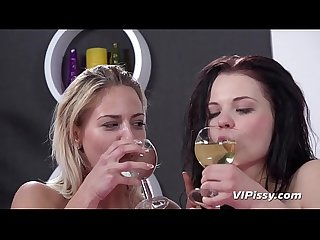 Pissing lesbians oprah and ella turn a sleepover into piss play