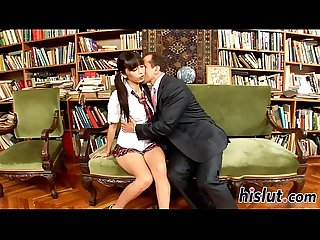 Horny schoolgirl enjoys getting slammed hard
