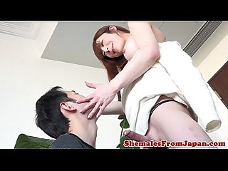 Versatile Jap tgirl nails guy doggystyle