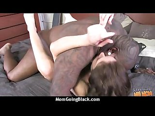 Mature mom barely takes 10 inch black cock 16