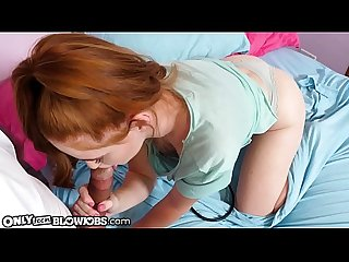 OnlyTeenBlowjobs Lucky Doctor Facefucks Redhead Teen