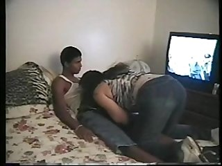 19 yo HOT college girl fucks black dude HARD on cam - interracial tape VickyS tt5