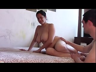 Kinky step mum taboo gags with cum